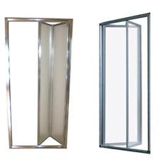 Box doccia cristallo in 5 mm porta a libro soffietto cabina nicchia da 77 a 101