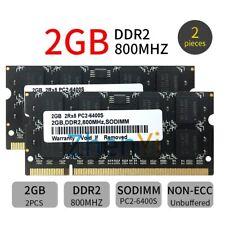 4GB 2x 2GB 1GB DDR2 800MHz PC2-6400S 200Pin 1.8V SODIMM Black Laptop RAM Lot UK