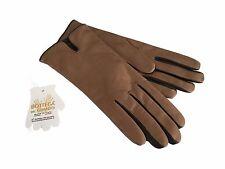 LA BOTTEGA DEL GUANTO guanti donna biscotto con profili moro 100% pelle
