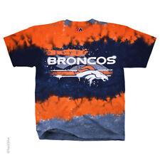 DENVER BRONCOS  HORIZONTAL STENCIL   Tie Dye  T  Shirt NEW NFL TAGS