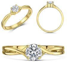 9ct Yellow Gold  Engagement Ring Diamond Solitaire Quarter Third or Half Carat