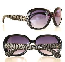 Occhiali da sole donna lenti nere grigio asta maculata tigrata sunglasses 2