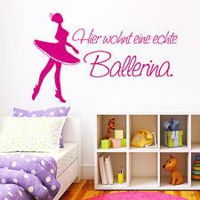 10547 Wandtattoo Loft Wandaufkleber Hier wohnt eine echte Ballerina Sterne Tanz