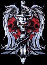 DRAGON WINGS SWORD SKULL HORNS GOTH BIKER EVIL STEAM PUNK SWEATSHIRT X82