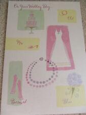 HALLMARK LOVELY COLOURFUL SHINY WEDDING DAY CARD