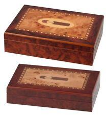 Cigar Intarsien Humidor 10 oder 20 Zigarren Hygrometer + Acrylpolymer-Befeuchter