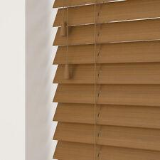 Sunwood Fauxwood Venetian Blinds - Amber - Made to Measure - 35/50mm Slats