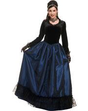 Adult Womens Dark Victorian Era Funeral Lady Princess Dress Costume