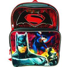 "BATMAN v SUPERMAN DC Boys 16"" Full-Size Backpack w/ Optional Insulated Lunch Box"