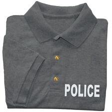 Police golf shirt men's collared button up polo tee dress shirt uniform costume