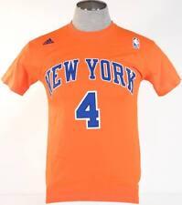 Adidas New York Knicks Billups 4 Orange Short Sleeve Tee T Shirt Mens NWT