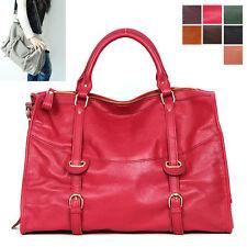 New Extra Large PREMIUM VEGETABLE CALFSKIN Handbag Tote Shoulder Bag [WB1216]