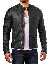 Men's Stylish Motorcycle Biker Genuine Lambskin Nappa Leather Jacket Mj 64