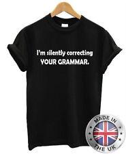 I'M Silently TUO grammatica. DIVERTENTE T SHIRT UOMO DONNA MAGLIETTA