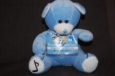 "PEEK A BOO TOYS BLUE TEDDY BEAR TUNES 8"" 2007 Plush Stuffed Animal Lovey Toy"