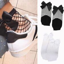 Moda estate delle donne del nodo a rete calze corte scava fuori maglia del O1L3