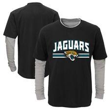"""Jacksonville Jaguars Toddler Black """"Bleachers"""" LS Faux Layer T-Shirt"""