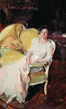 Joaquín Sorolla Clotilde seated on the Sofa Giclee Canvas Print