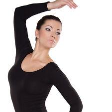 Damen Gymnastikanzug Ballettanzug Trikot Turnanzug  Ballettbody mit langen Ärmel