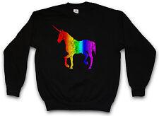 UNICORN I PULLOVER Rainbow Colors Einhorn Regenbogen The Last Cartoon Tattoo