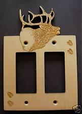 Laser Engraved Elk Double Rocker Gfi Decora Plate Cover