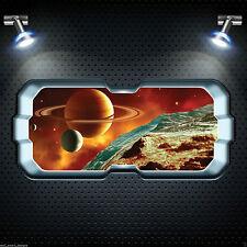 Cohete Espacial Ventana Planetas Estrellas A Todo Color Pegatina Pared Arte