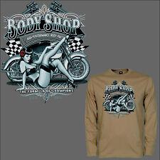 Camiseta Vintage Motocicleta motivo clásico de HARLEY Bicicleta Tienda PIN-UP