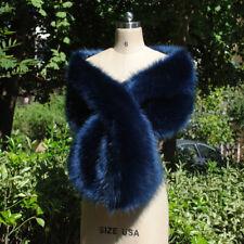New Women Faux Fur Shrug Cape Wedding Bridal Shawl Winter Poncho Coat Outerwear