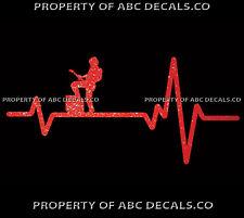 VRS Heart Beat Line GUITAR AX Guy Electric Acoustic Foot Amp CAR METAL DECAL