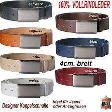 Ledergürtel - Echt Leder Gürtel   85-135cm   3,8cm. breit. Koppelschnalle