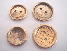 lot de 100  boutons 18 et 22 mm métal  aspect doré et cuivré