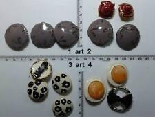 1 lotto bottoni gioiello strass smalti perle vetro buttons boutons vintage g11