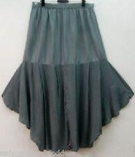 gray skirt maxi ruffled lagenlook  one size M L XL 1X 2X 3X 4X PLUS SIZE