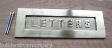 Carta de latón sólido De Muelles Caja Cubierta de placa Postal Viejo Estilo Victoriano