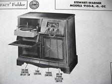 STEWART WARNER 9150-B,-D,-DZ PHONO-RADIO PHOTOFACT