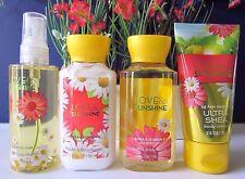 BATH & BODY WORKS Travel Size 3 or 4 Pc Set Lotion Cream Shower Gel Mist<U PICK>
