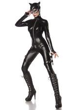Sexy costume CATWOMAN combattente taglia XS,S,M,L,XL,2XL travestimento Halloween