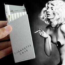 New Lady Women Slim Aluminum Cigarette Case Metal Holder Box - SUN