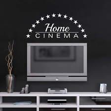 Wandtattoo Home Cinema Wandaufkleber Wandsticker selbstklebend wie gemalt Deko