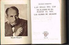 Eduardo Marquina Las Hijas Del Cid Teatro Crisol Nu. 24 Aguilar Minibook Leather