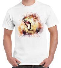 Male Lion Animal Design Drawing Men's T Shirt