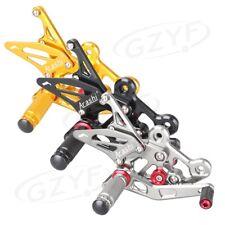 Adjustable Footrest Rearset Foot Pegs Kit For Suzuki GSXS750 15-16/ GSR750 11-16