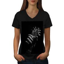 Art Music Guitar Musician Women V-Neck T-shirt NEW | Wellcoda