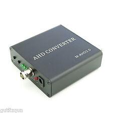 500m 1080P Video Audio Converter AHD to HDMI/VGA/CVBS Converter W/ Power Adapter