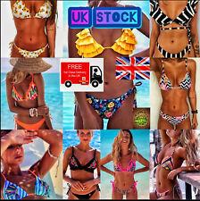 UK Womens Padded Push-up Bikini Bra Set Swimsuit Bathing Suit Swimwear Beachwear