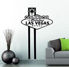 Benvenuto a Las Vegas Nevada viaggio Landmark Decor Vinyl Wall Sticker Camera da Letto