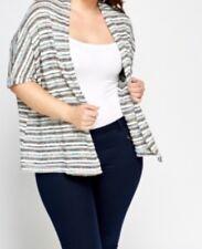 Women's Multi Striped Open Cardigan (UK 14-16)