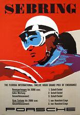Sebring Florida Porsche 12 Hour Grand Prix Vintage  Poster on Paper/Canvas
