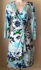 Calvin Klein Floral Print Faux Wrap Dress CD8AK995 NWT Size 2, 4, 8, 10