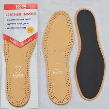 Tacco Luxus Comfort Leather Insoles Black 713 / Tan 613 Shoe Inserts - ORIGINAL
